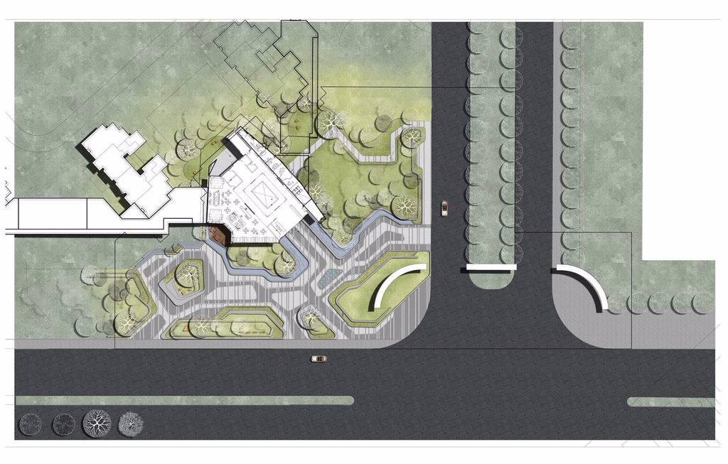 西安保利国际公园景观设计|GVL怡境庭院分析中央景观设计设计图片