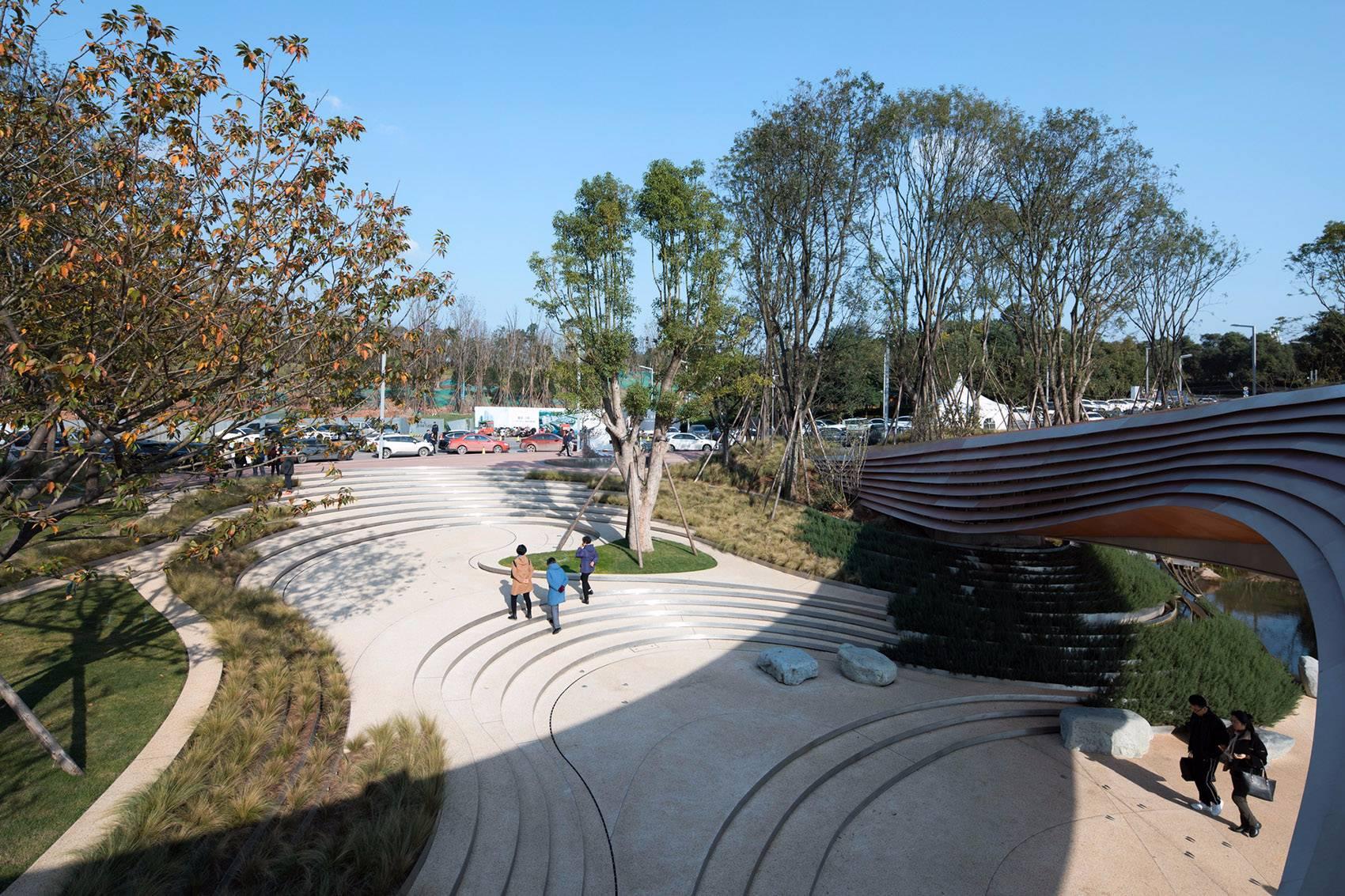 成都麓湖生态城G1艺展公园景观设计|GVL怡境新景色广告设计图片