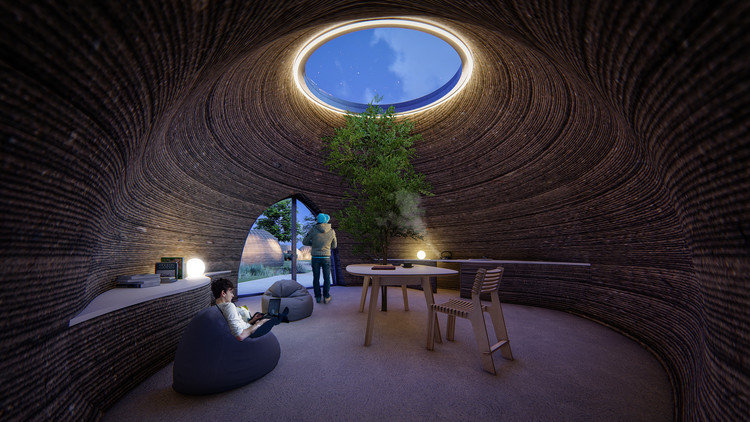 Tecla_3d_printed_earth_house_by_Crane_WASP_living_night.jpg